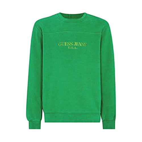 Guess Jeans Farmers Market USA Green Crewneck