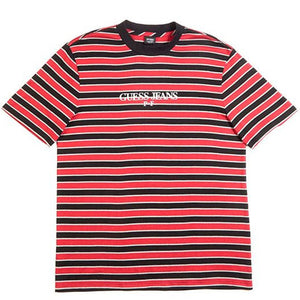 Guess x Places + Faces Reflective Striped Tee Red