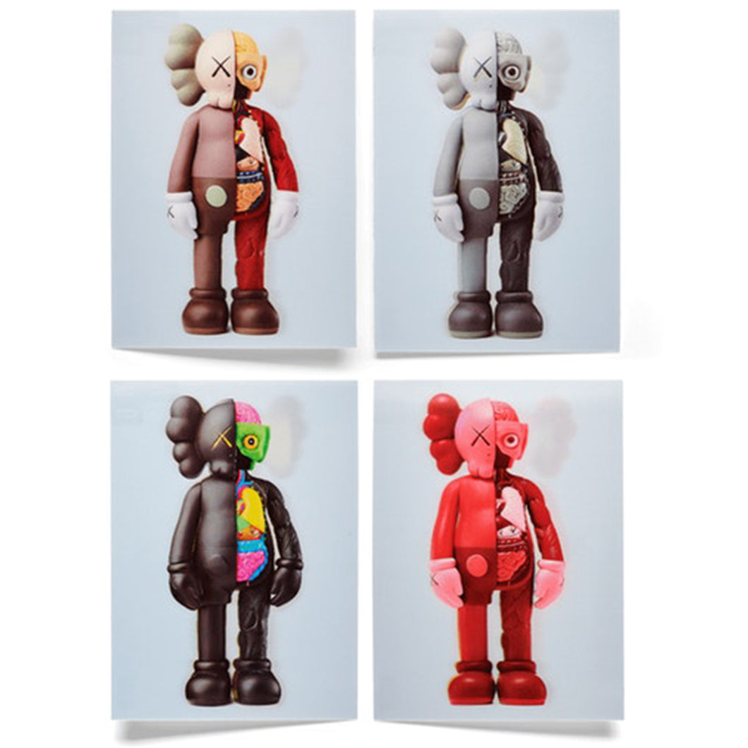 KAWS Companion Flayed Lenticular Postcard (Set of 4)