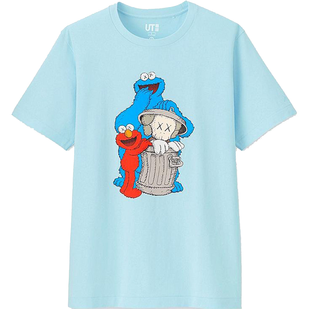 Uniqlo Sesame Street x Kaws Graphic T-Shirt Blue