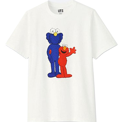 Uniqlo Sesame Street x Kaws Graphic T-Shirt White