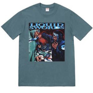 Supreme Liquid Swords Tee Slate