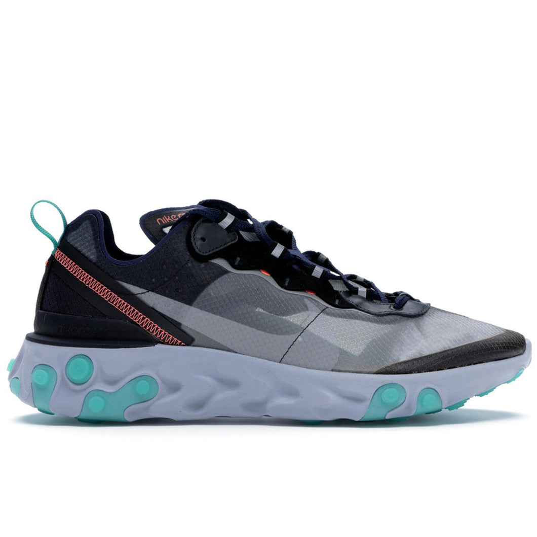 Nike React Element 87 Black Neptune Green