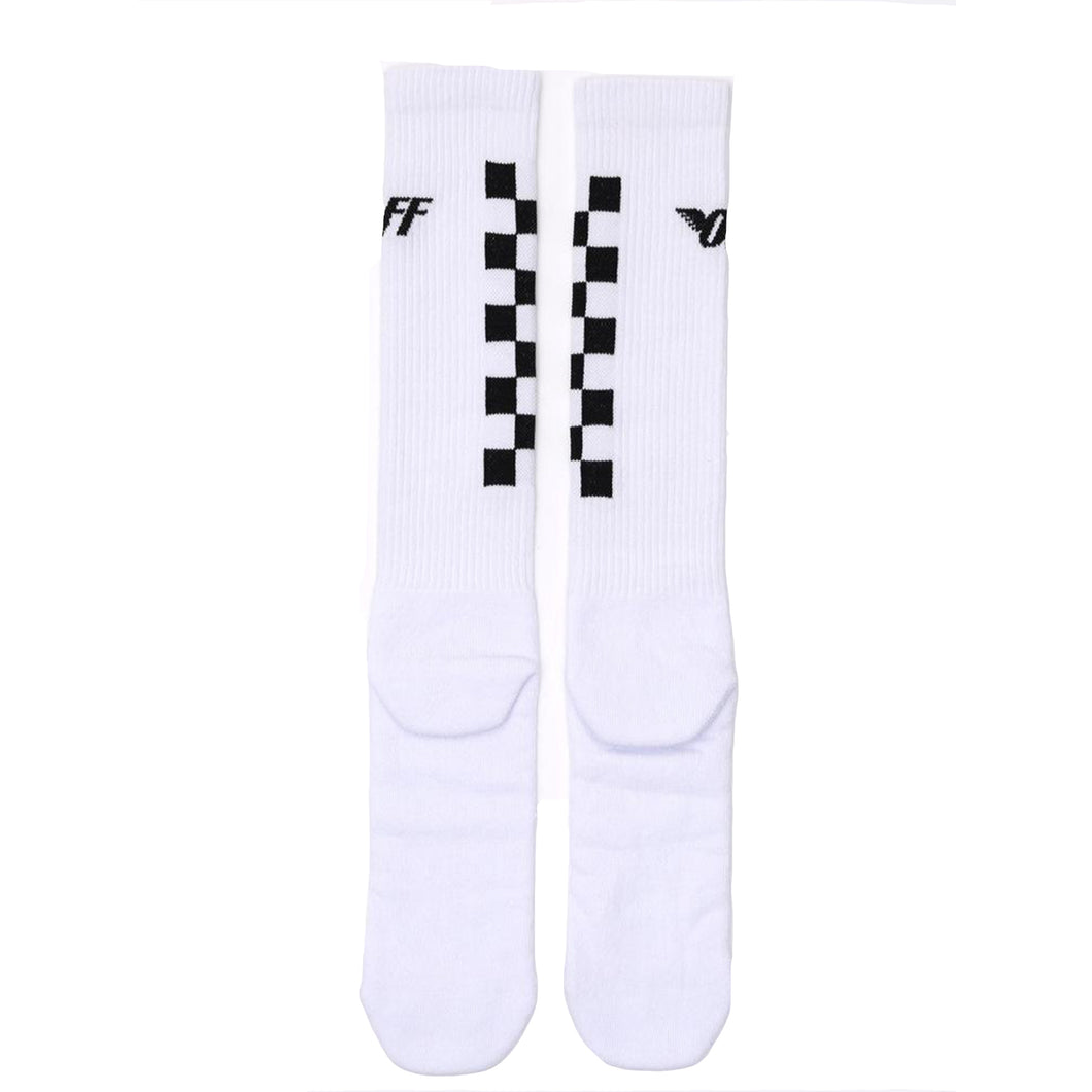 Off-White Check Detail Socks