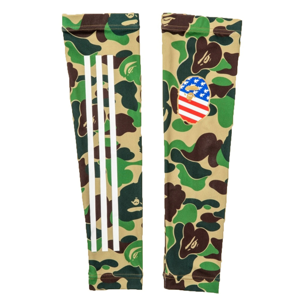 BAPE x Adidas Arm Sleeves Green