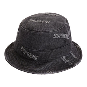 Supreme SS19 Logo Denim Crusher - Black