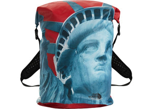Supreme x The North Face Statue of Liberty Waterproof Backpack - Red