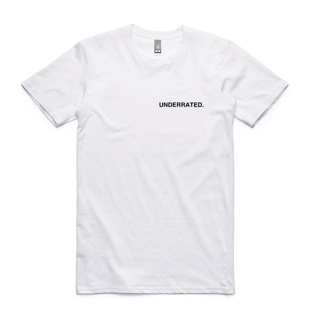 Underrated Melbourne Embroidered Logo Tee - White