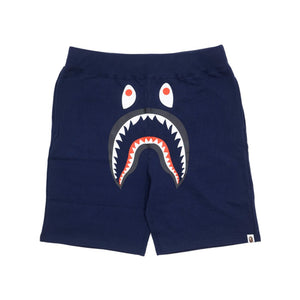 BAPE Solid Shark Sweatshorts Navy