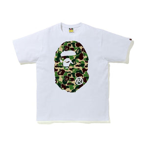 BAPE ABC Camo Big Ape Head Tee White/Green