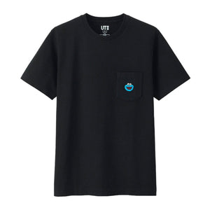 KAWS x Uniqlo x Sesame Street Cookie Monster Pocket Tee - Black