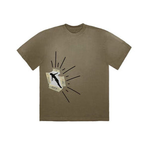 Travis Scott Highest In The Room Dive T Shirt - Olive Brown