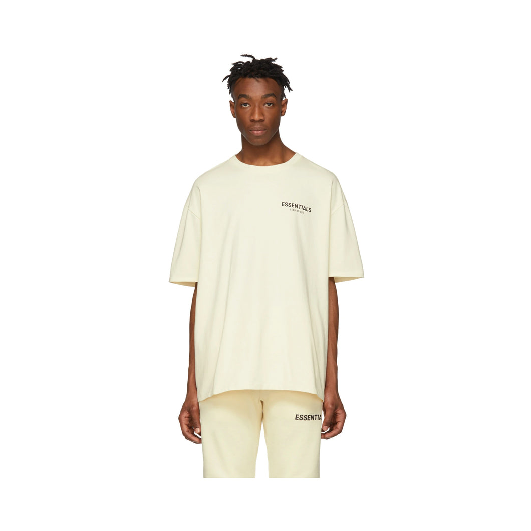 Fear of God Essentials Boxy Tee - Off White Cream