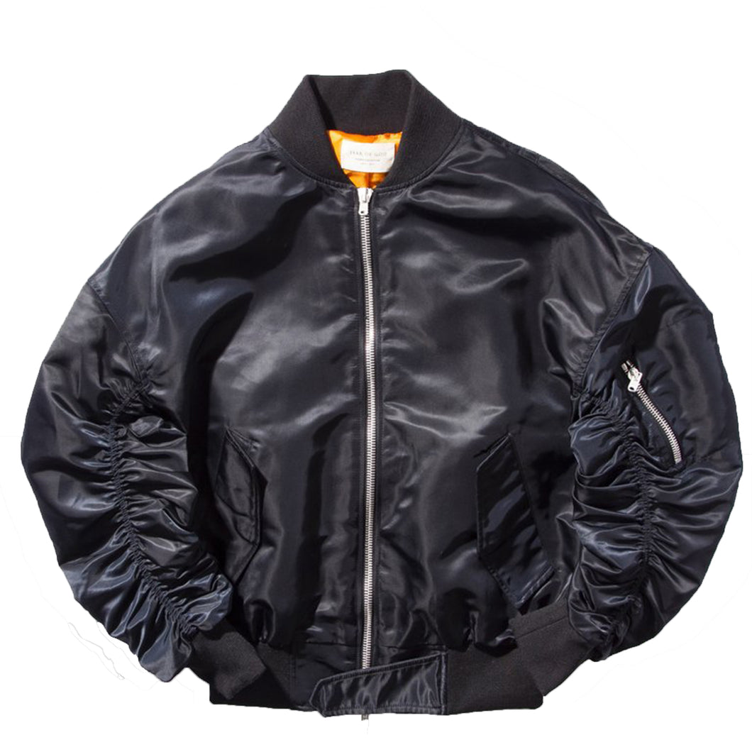 FEAR OF GOD Bomber Jacket Black 4th Collection Black