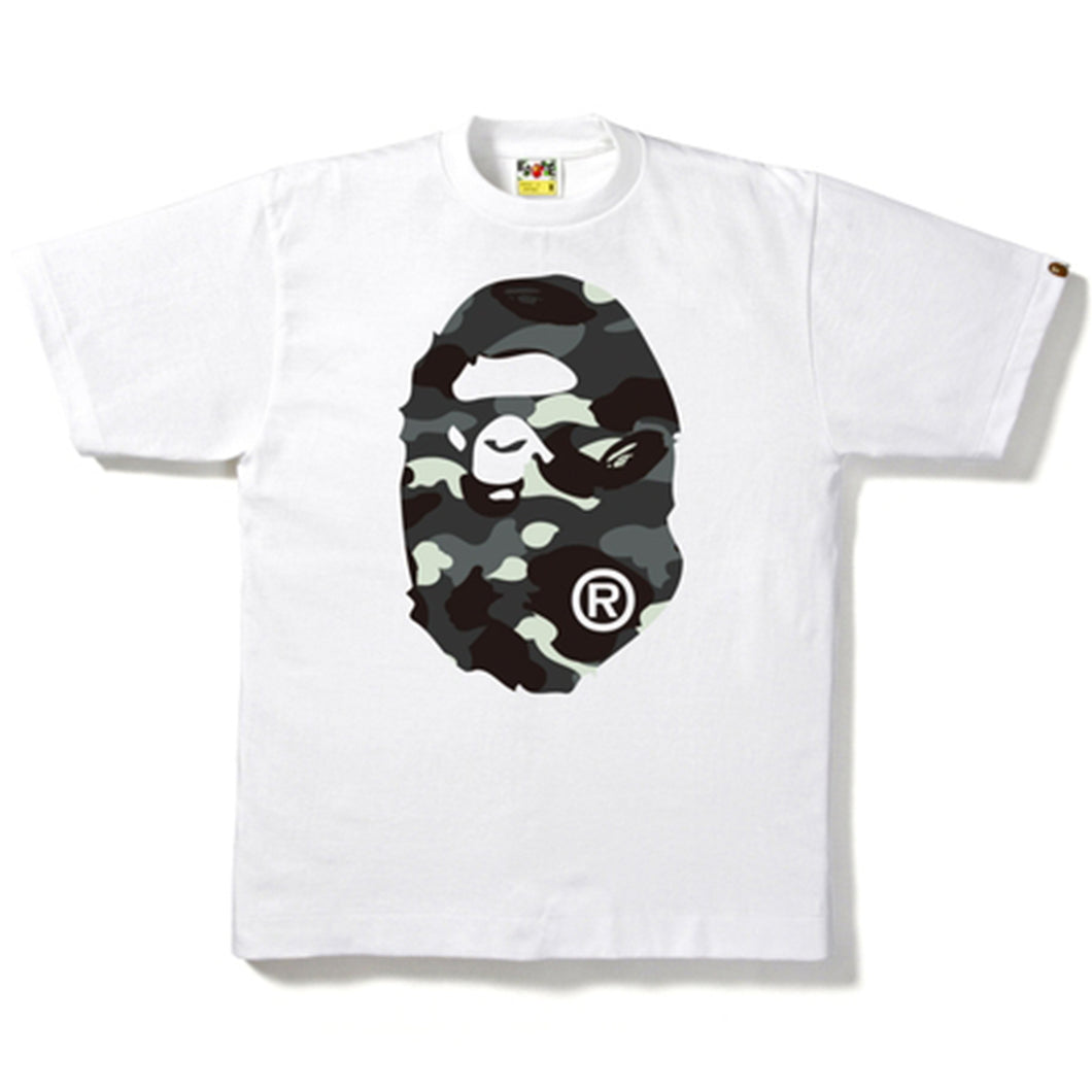 Bape City Big Head Camo Tee White (Glow In The Dark)
