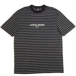 Guess x Places + Faces Reflective Striped Tee Black