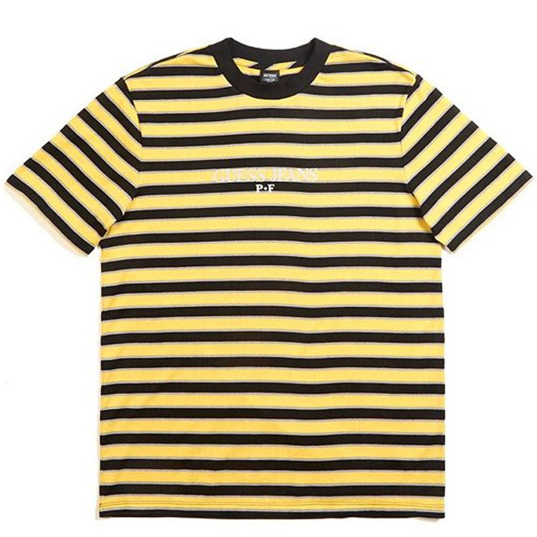 Guess x Places + Faces Reflective Striped Tee Yellow