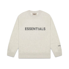 FEAR OF GOD ESSENTIALS 3D Silicon Applique Crewneck - Heather Grey