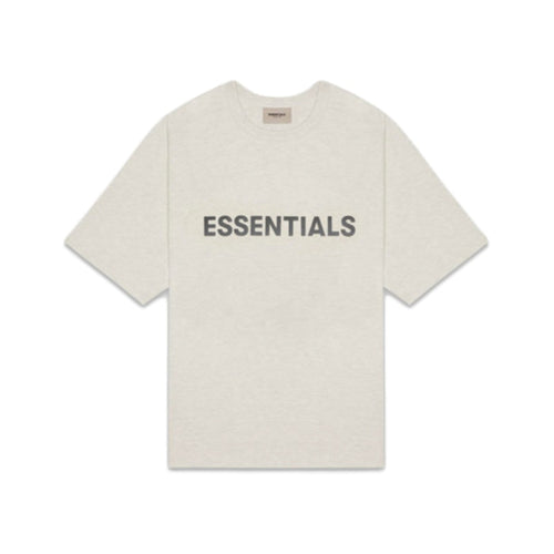 FEAR OF GOD ESSENTIALS 3D Silicon Applique Boxy T-Shirt - Grey (Oatmeal)