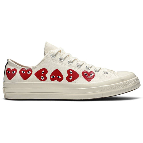 Converse x CDG Play Chuck '70 Low Top 'Multi Heart' - White