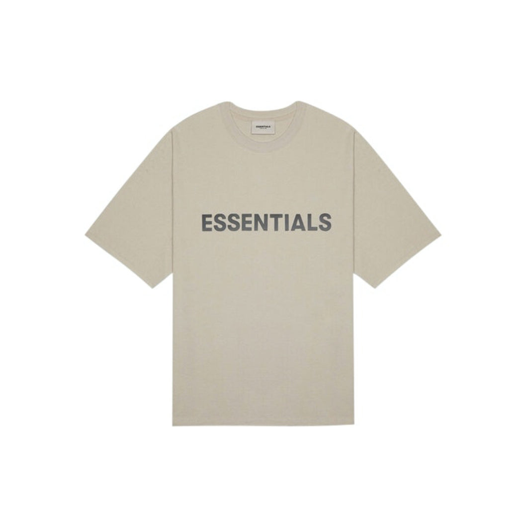 FEAR OF GOD ESSENTIALS 3D Silicon Applique Boxy T-Shirt - Tan