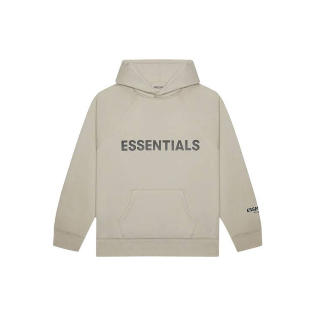 FEAR OF GOD ESSENTIALS 3D Silicon Applique Pullover Hoodie - Tan