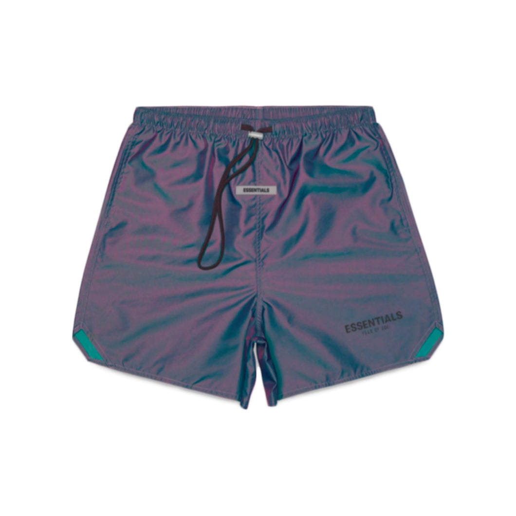 FEAR OF GOD ESSENTIALS Reflective Volley Shorts - Iridescent