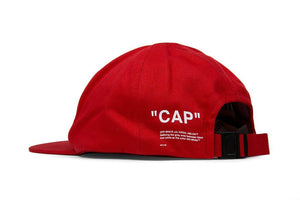 "Off-White ""CAP"" Baseball Hat Red"