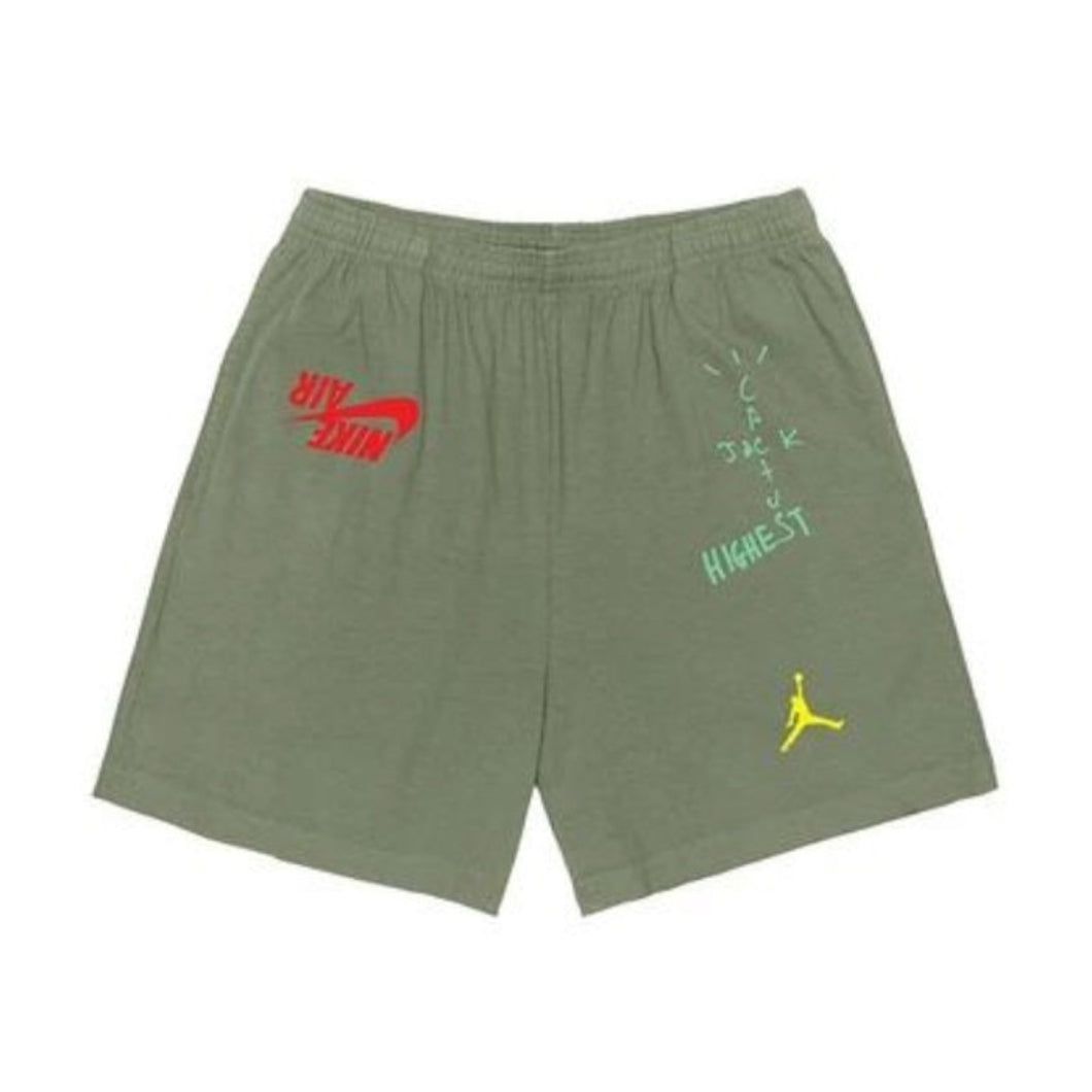 Travis Scott Jordan Cactus Jack Highest Shorts Olive