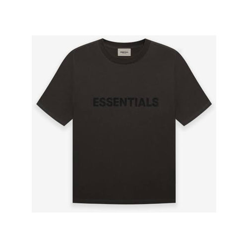 FEAR OF GOD ESSENTIALS 3D Silicon Applique Boxy T-Shirt - Weathered Black