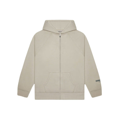 FEAR OF GOD ESSENTIALS 3D Silicon Applique Full Zip Up Hoodie - Tan