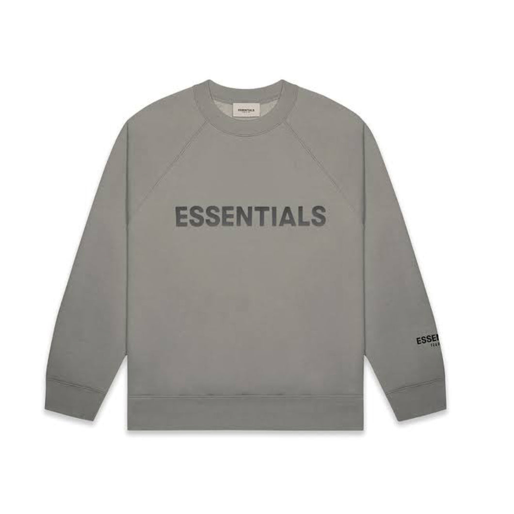 FEAR OF GOD ESSENTIALS 3D Silicon Applique Crewneck - Cement