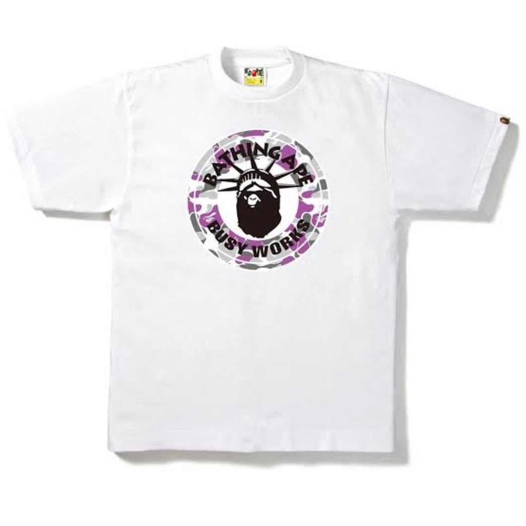 A Bathing Ape Busy Works NYC Exclusive Tee White