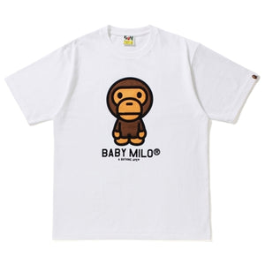 A Bathing Ape Baby Milo Tee White