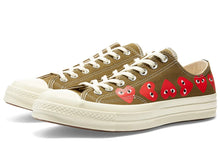 Converse x CDG Play Chuck '70 Low Top 'Multi Heart' - Khaki