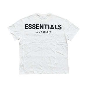 FEAR OF GOD ESSENTIALS Los Angeles 3M Logo Tee - White