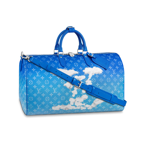 Louis Vuitton Keepall Bandouliere Clouds Monogram 50 - Blue