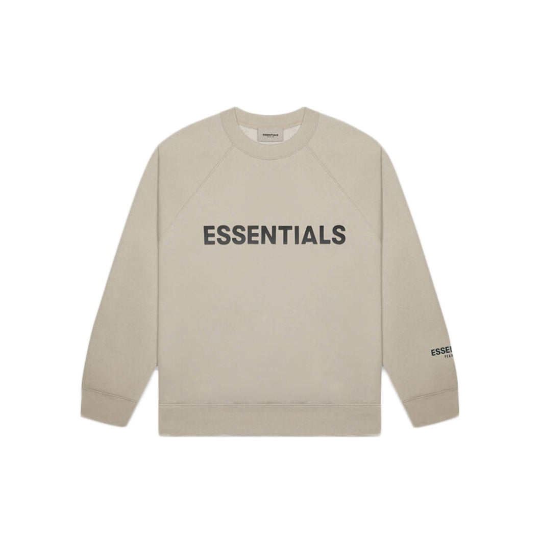 FEAR OF GOD ESSENTIALS 3D Silicon Applique Crewneck - Tan