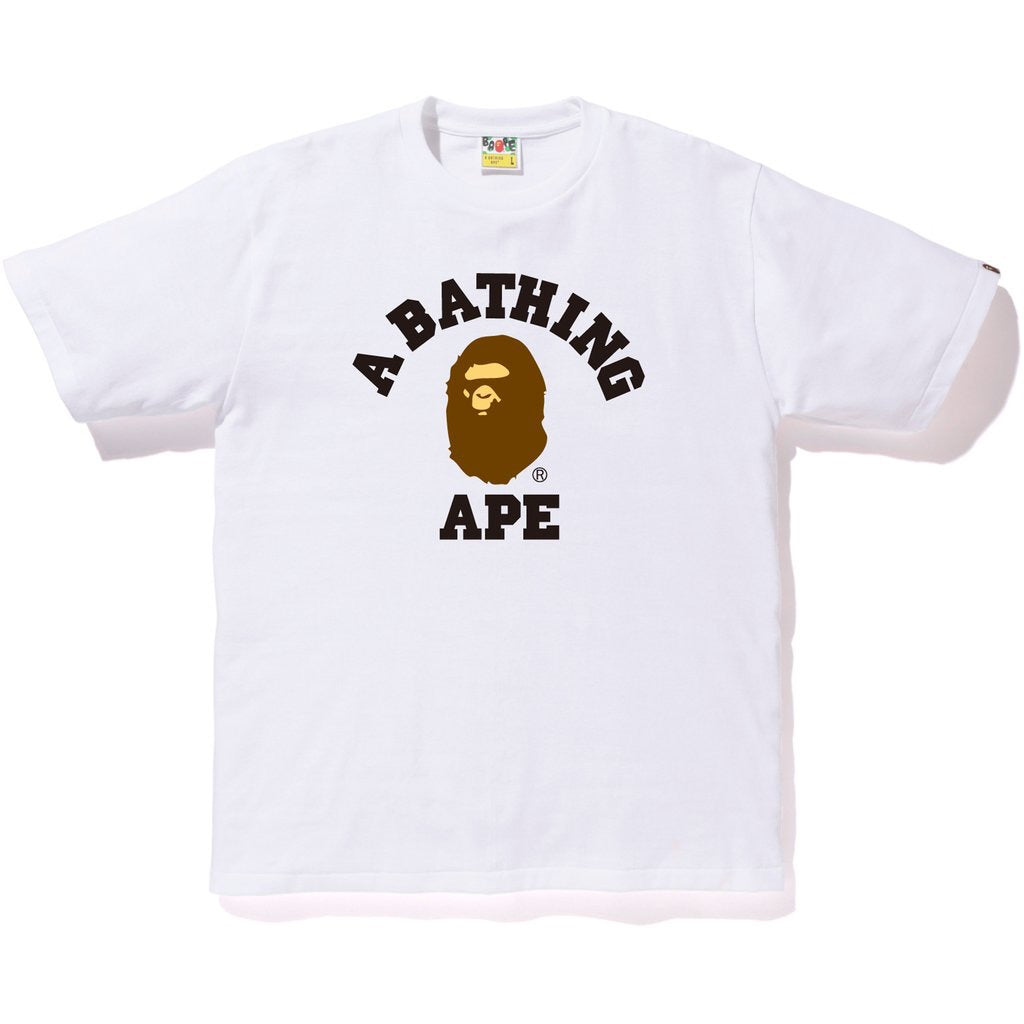 A Bathing Ape College T-Shirt White