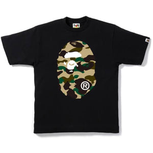 A Bathing Ape Bape Big Head Camo Tee Black