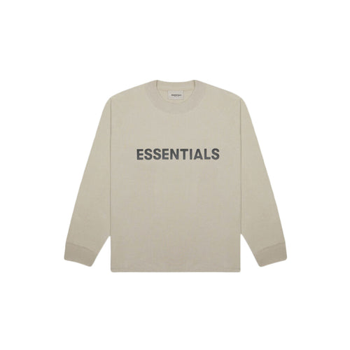 FEAR OF GOD ESSENTIALS 3D Silicon Applique Boxy L/S T-Shirt - Tan