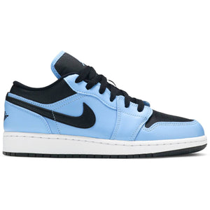 Air Jordan 1 Low GS 'University Blue Black' UNC (Youth)