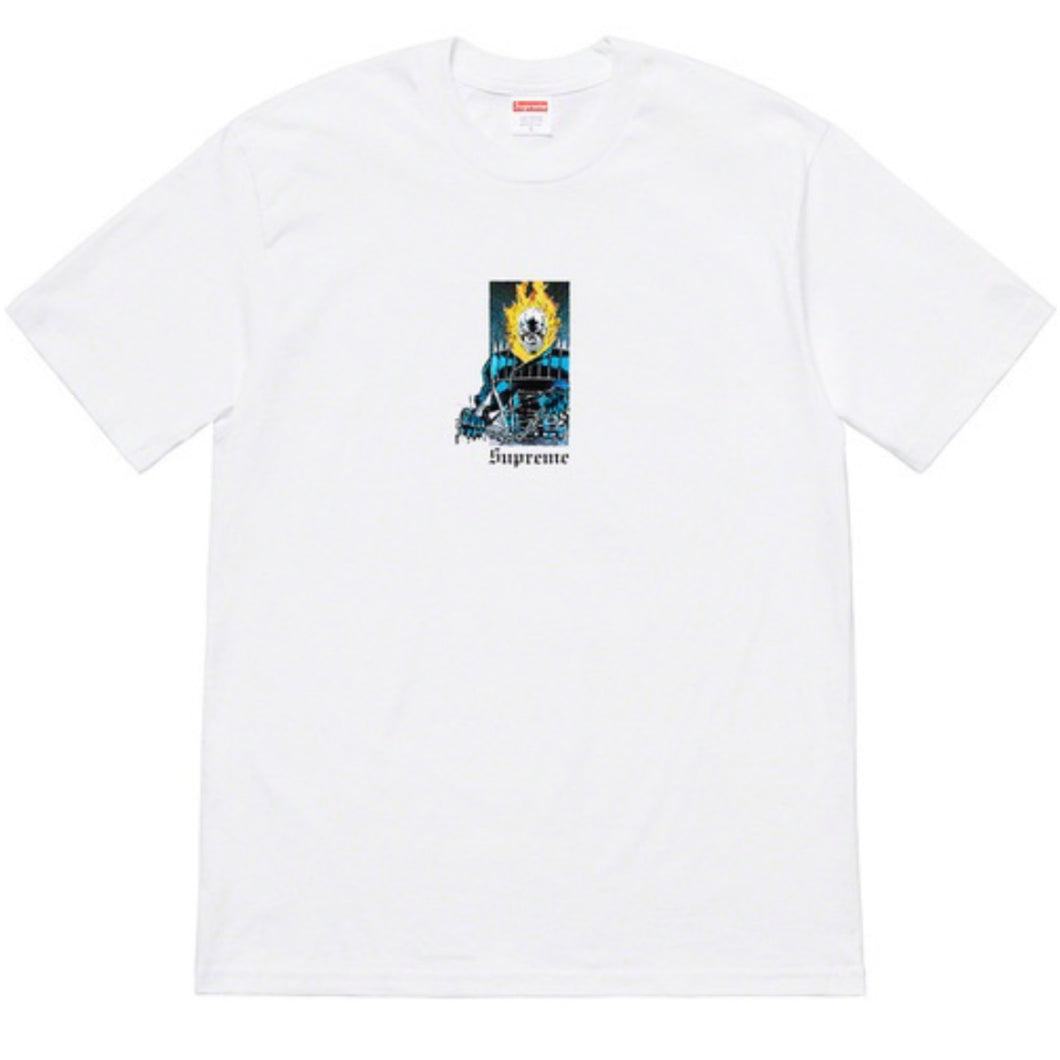 Supreme SS19 Ghost Rider Tee - White