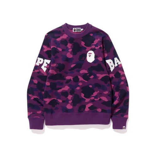 BAPE Color Camo Crewneck Crewneck - Purple