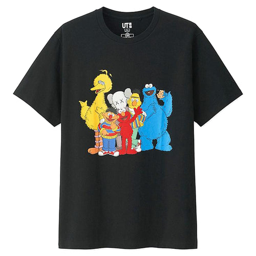 Kaws x Sesame Street Graphic T-Shirt By Uniqlo - Black