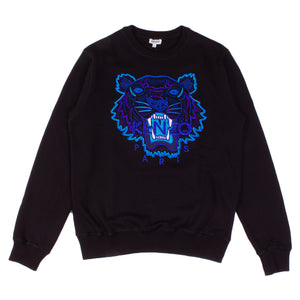Kenzo Black/Blue Embroidered Tiger Crew Sweatshirt