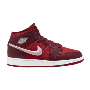 Air Jordan 1 Mid SE GS 'Red Quilt' (Youth)