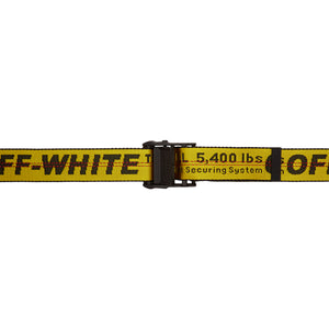 Off-White: Yellow Industrial Belt