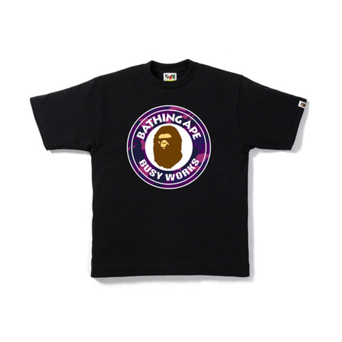 BAPE Color Camo Busy Works Tee Black/Purple