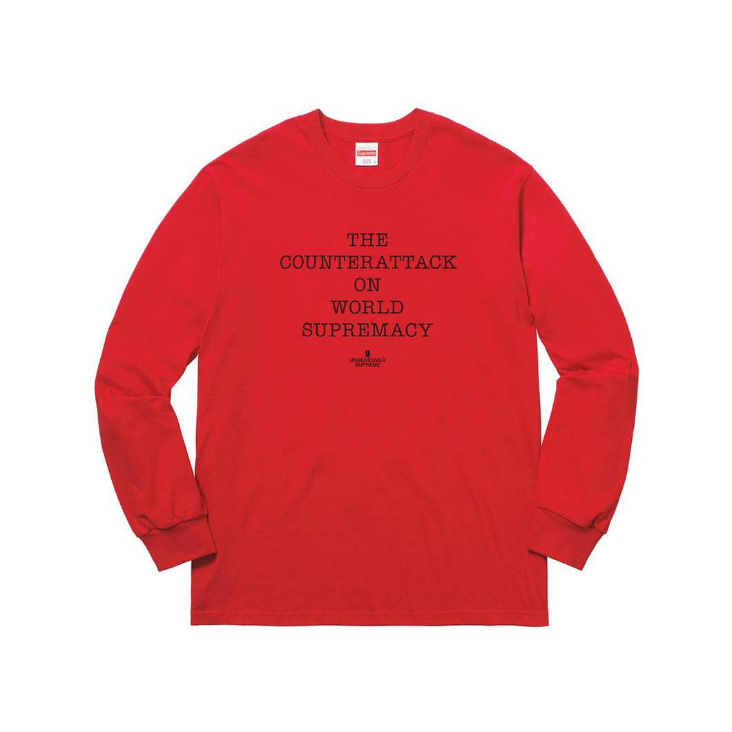 Supreme x UNDERCOVER/Public Enemy Counterattack Long Sleeve Tee - Red